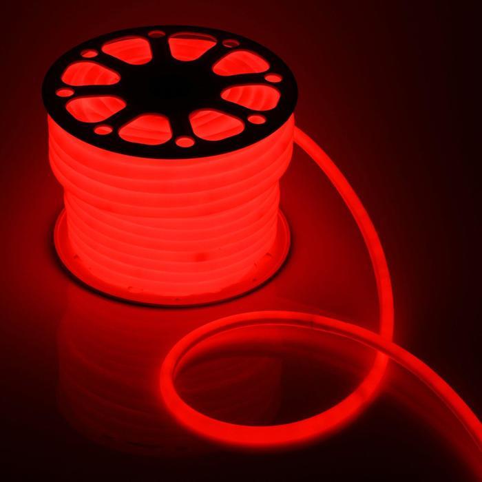 Гибкий неон круглый, D=16 мм, 50 м, LED/м-120-SMD2835-220V, КРАСНЫЙ