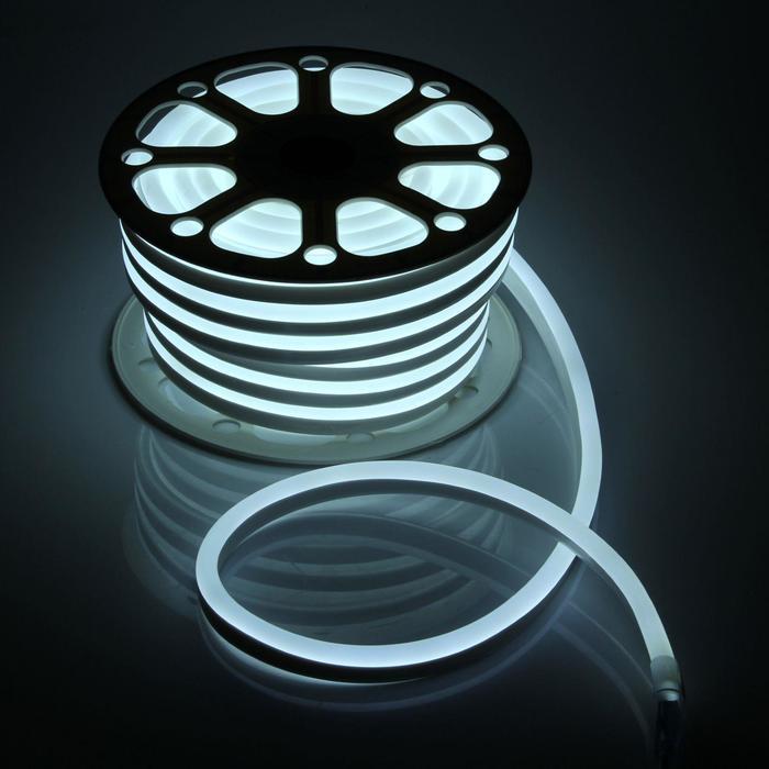 Гибкий неон, 15х25 мм, 25 м, LED/м-120-SMD2835-220V, БЕЛЫЙ