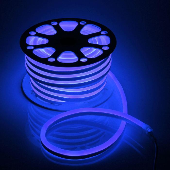 Гибкий неон, 15х25 мм, 25 м, LED/м-120-SMD2835-220V, СИНИЙ