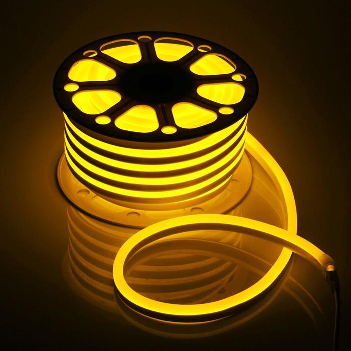 Гибкий неон, 15х25 мм, 25 м, LED/м-120-SMD2835-220V, ЖЕЛТЫЙ