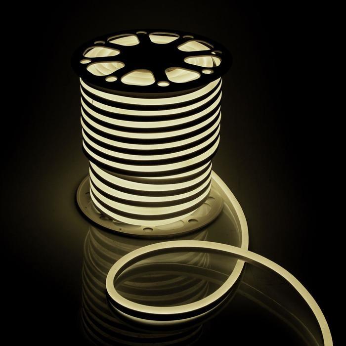 Гибкий неон, 15х25 мм, 50 м, LED/м-120-SMD2835-220V, Т/БЕЛЫЙ