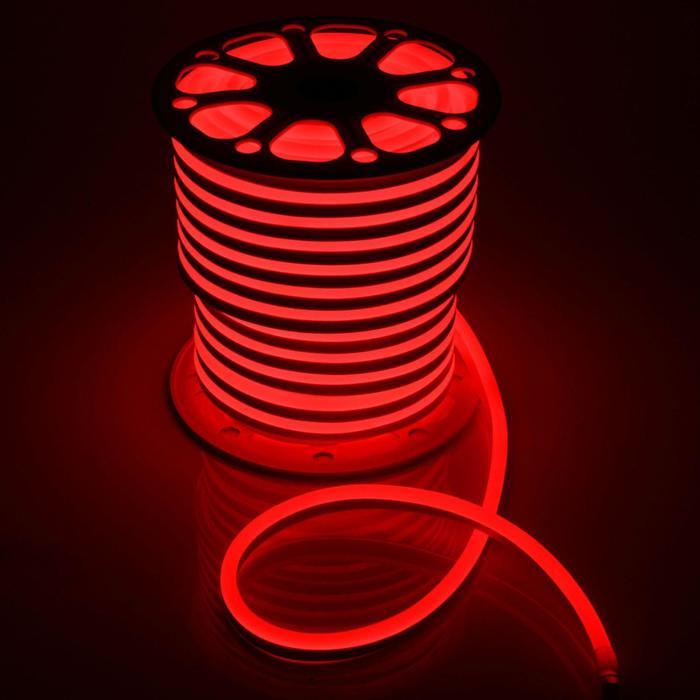 Гибкий неон, 15х25 мм, 50 м, LED/м-120-SMD2835-220V, КРАСНЫЙ