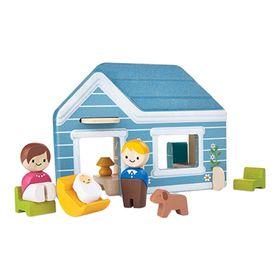 Кукольный домик с мебелью и человечками