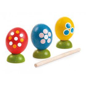 Игрушка музыкальная «Яйца» с палочкой, набор 3 шт