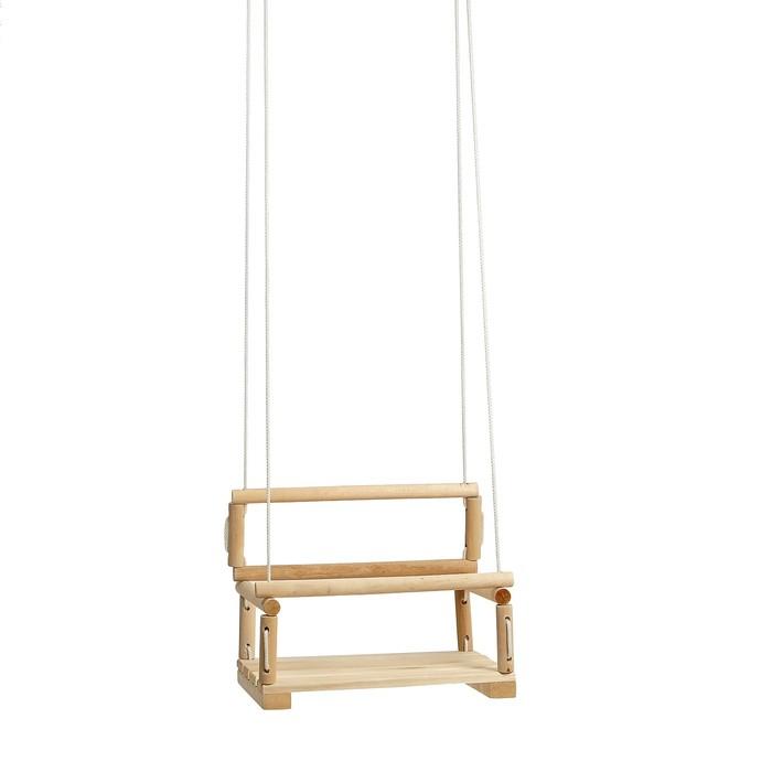 Качели детские подвесные, деревянные, сиденье 2828см