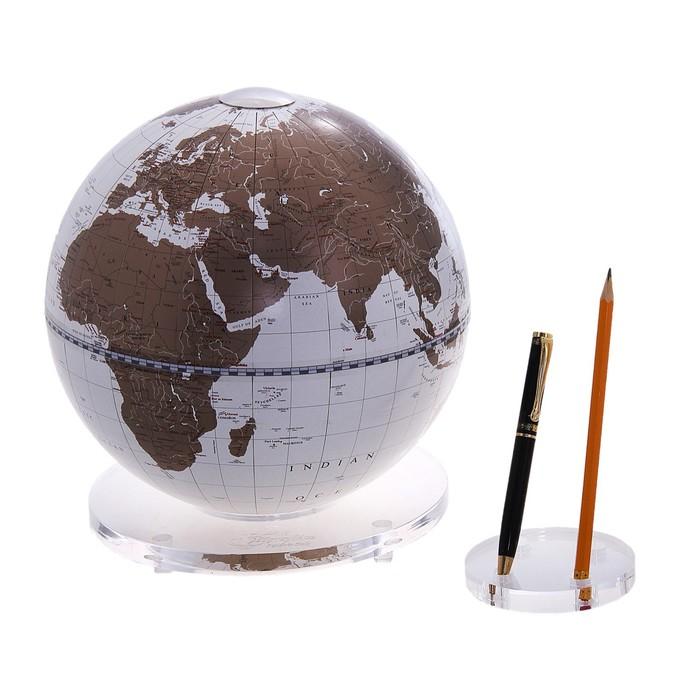 Глобус с подставкой для письменных приборов