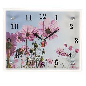 """Часы настенные, серия: Цветы, """"Сиреневые цветы"""", 20х25  см, микс"""