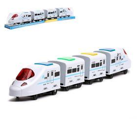 Поезд «Скорость», работает от батареек, световые и звуковые эффекты, МИКС Ош