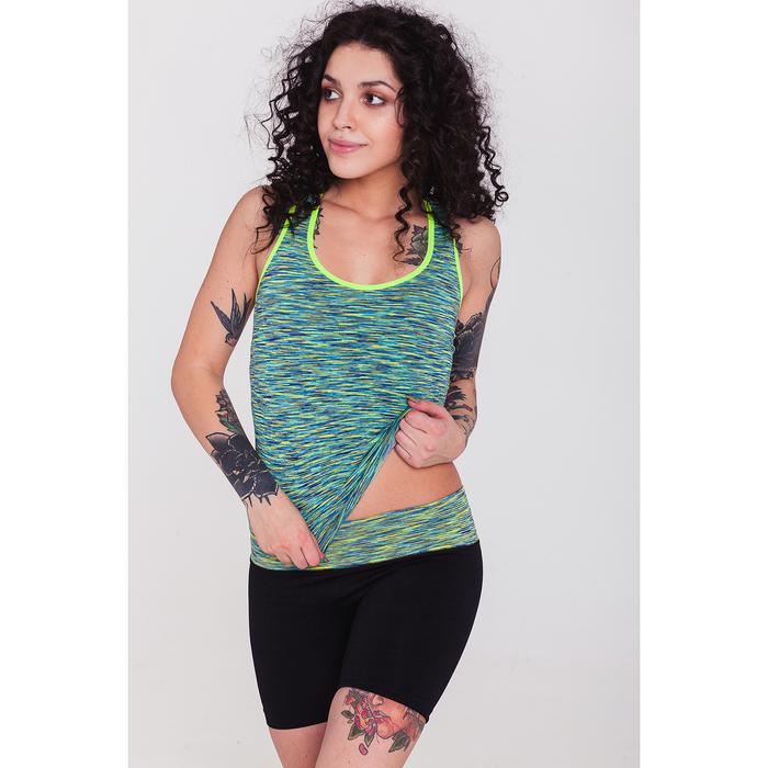 Спортивные шорты ONLITOP Fitness time, размер 42-44, цвет зелёный