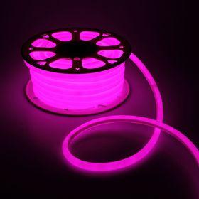 Гибкий неон круглый, D=16 мм, 25 м, LED/м-120-SMD2835-220V, РОЗОВЫЙ Ош