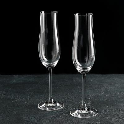 Набор бокалов для шампанского Bohemia Crystal «Аттимо», 180 мл, 2 шт - Фото 1