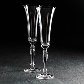 Набор фужеров для шампанского Bohemia Crystal «Виктория. Свадебный», 180 мл, 2 шт