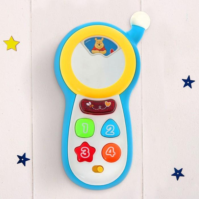 Игрушка музыкальная «Телефончик», Медвежонок Винни и его друзья, световые и звуковые эффекты, работает от батареек, БОНУС — аксессуар