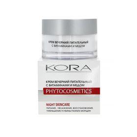 Крем для лица Kora, вечерний, питательный с витаминами и медом, 50 мл