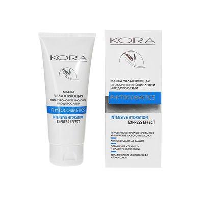 Крем-маска для лица Kora, увлажняющая с гиалуроновой кислотой и водорослями, 100 мл