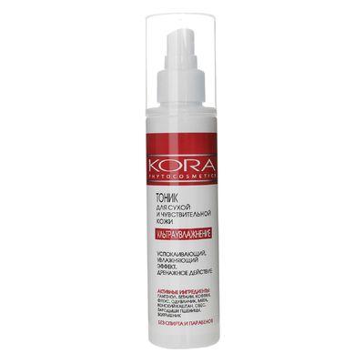 """Тоник Kora """"Ультраувлажнение"""" для сухой и чувствительной кожи лица, 150 мл"""