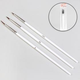 Точечные кисти для дизайна ногтей, 3 шт, 18 см, цвет белый