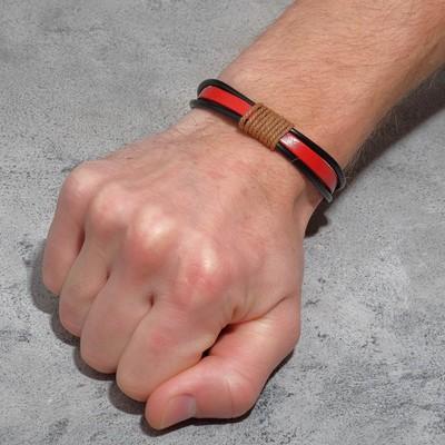 """Браслет унисекс """"Сила"""" плетение, цвет красно-чёрный"""