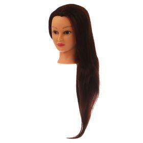 Голова тренировочная, натуральный волос 80%, 60см Ош