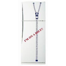 Декоративная цветная наклейка на холодильник из винила «Я на диете» Ош
