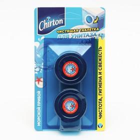 """Чистящие таблетки для унитаза Chirton """"Морской прибой"""", 2 шт. × 50 г"""