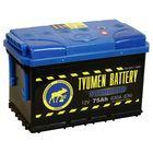 Аккумуляторная батарея Тюмень 75 Ач, обратная полярность 6СТ-75L, Standard