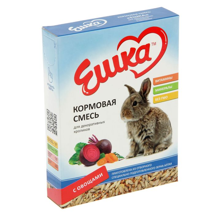 Кормовая смесь «Ешка» для декоративных кроликов, с овощами, 450 г
