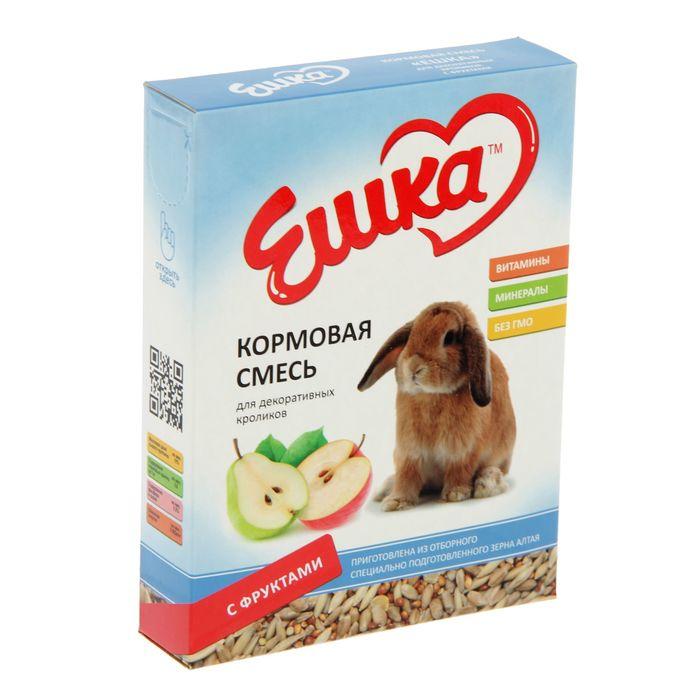 Кормовая смесь «Ешка» для декоративных кроликов, с фруктами, 450 г