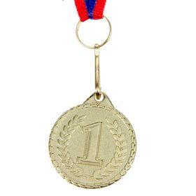 Медаль призовая, 1 место, золото, d=3,2 см Ош