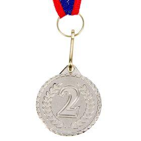 Медаль призовая, 2 место, серебро, d=3,2 см Ош