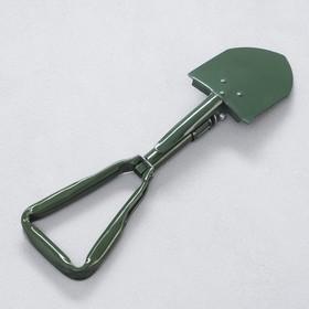 Лопата складная, 4х12х48см, зеленая Ош