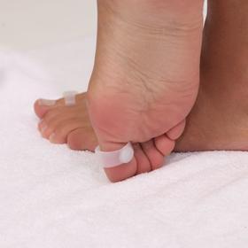 Защитные накладки на пальцы ног, с магнитом, пара, цвет белый