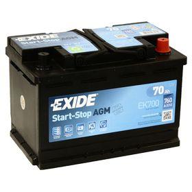 Аккумуляторная батарея Exide 70 Ач, обратная полярность Start-Stop AGM EK700 Ош
