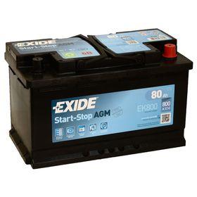 Аккумуляторная батарея Exide 80 Ач, обратная полярность Start-Stop AGM EK800 Ош