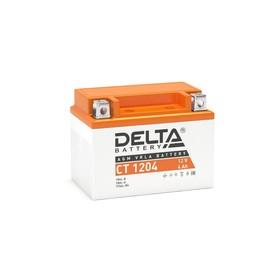 Аккумуляторная батарея Delta СТ1204 (YB4L-B, YB4L-A, YTX4L-BS)12V, 4 Ач обратная(- +) Ош