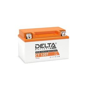 Аккумуляторная батарея Delta СТ1207 (YTX7A-BS)12V, 7 Ач прямая(+ -) Ош