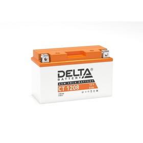 Аккумуляторная батарея Delta СТ1208 (YT7B-BS, YT7B-4, YT9B-BS)12V, 8 Ач прямая(+ -) Ош