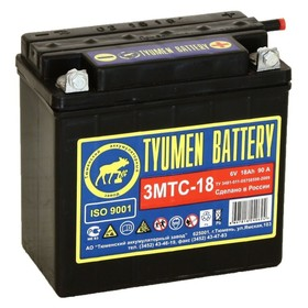 Аккумуляторная батарея Тюмень 18 Ач 6 Вольт 3МТС-18 Ош