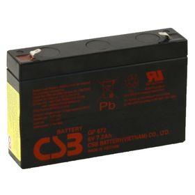 Аккумуляторная батарея CSB 7.2 Ач 6 Вольт GP 672 Ош