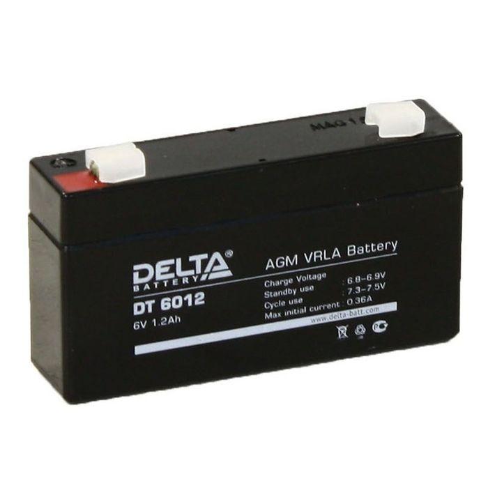 Аккумуляторная батарея Delta 1,2 Ач 6 Вольт DT 6012