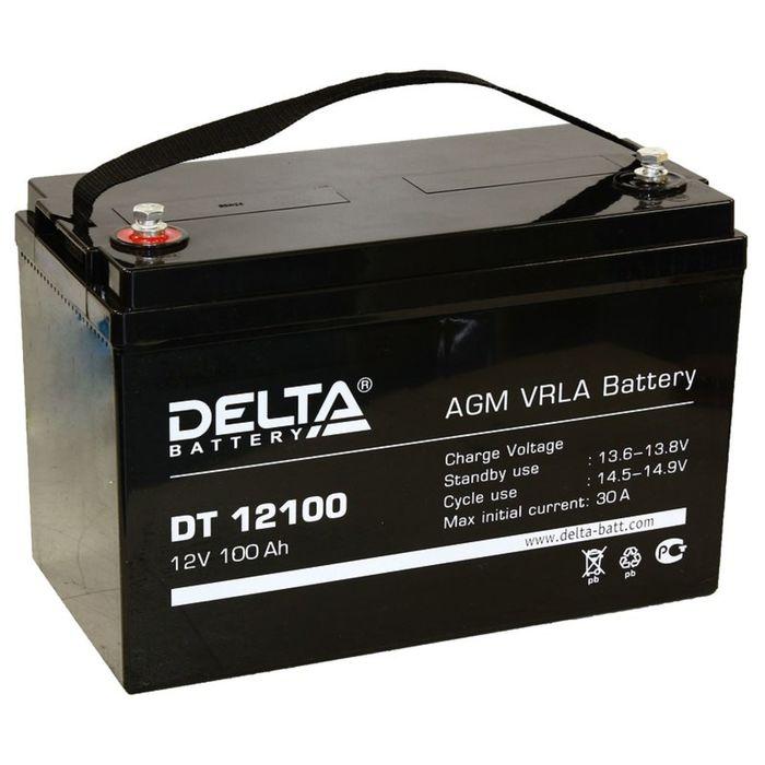 Аккумуляторная батарея Delta 100 Ач 12 Вольт DT 12100