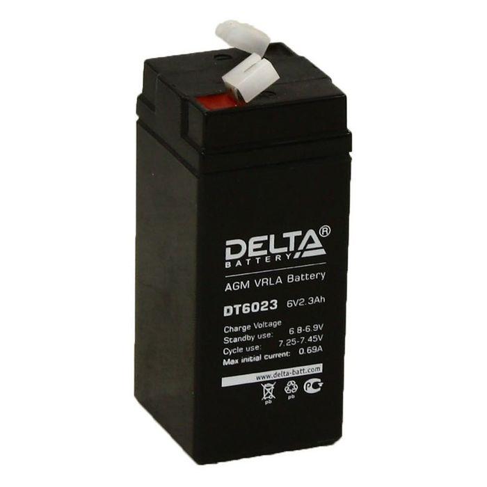 Аккумуляторная батарея Delta 2,3 Ач 6 Вольт DT 6023