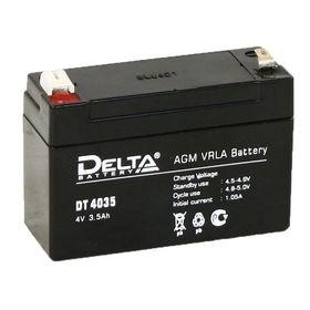 Аккумуляторная батарея Delta 3,5 Ач 4 Вольт DT 4035 Ош