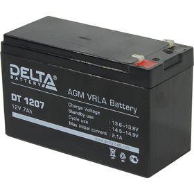 Аккумуляторная батарея Delta 7 Ач 12 Вольт DT 1207 Ош