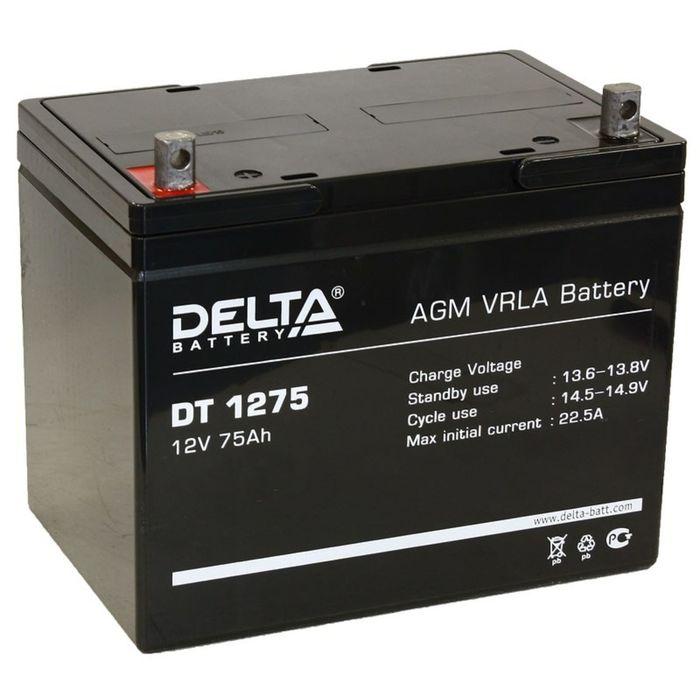 Аккумуляторная батарея Delta 75 Ач 12 Вольт DT 1275