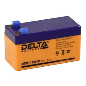 Аккумуляторная батарея Delta 1,2 Ач 12 Вольт DTM 12012 Ош