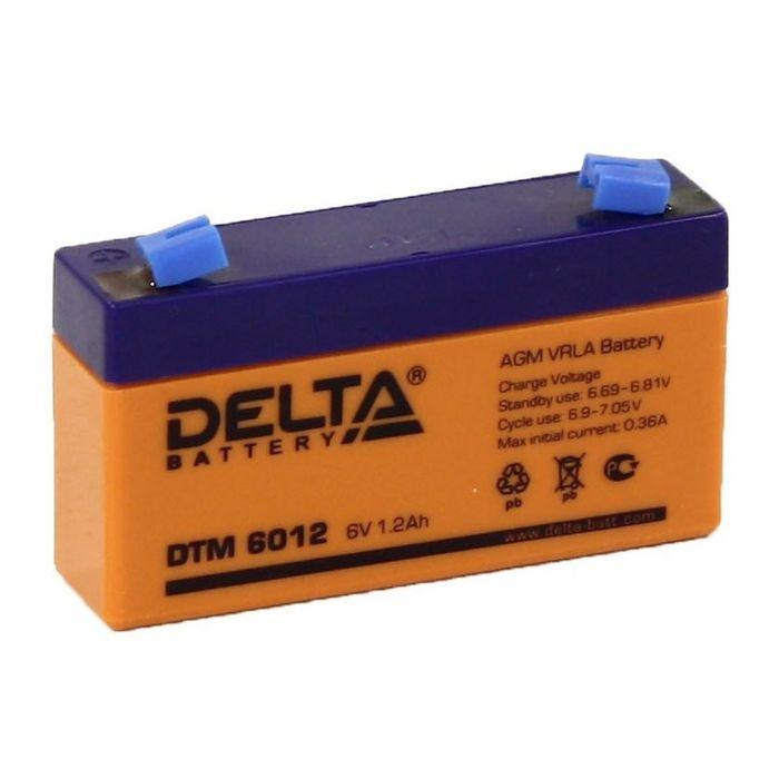 Аккумуляторная батарея Delta 1,2 Ач 6 Вольт DTM 6012