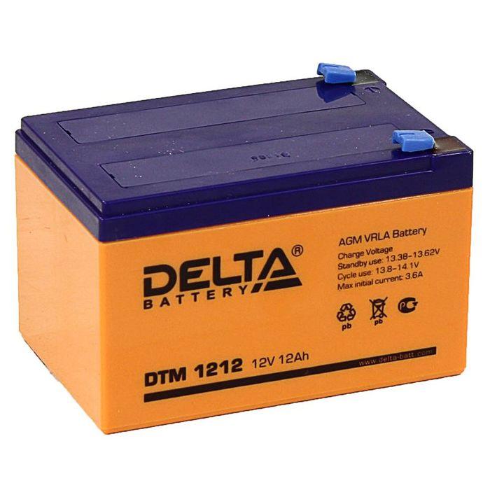 Аккумуляторная батарея Delta 12 Ач 12 Вольт DTM 1212