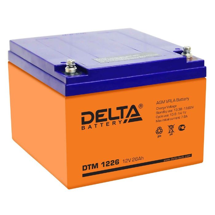 Аккумуляторная батарея Delta 26 Ач 12 Вольт DTM 1226