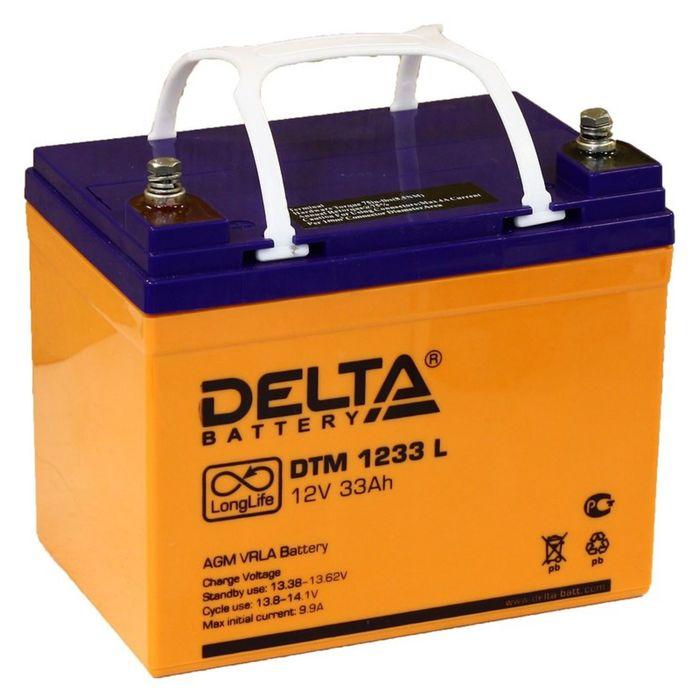 Аккумуляторная батарея Delta 33 Ач 12 Вольт DTM 1233